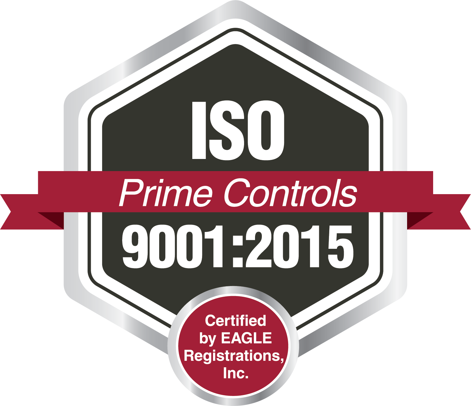Prime Controls ISO Logo Certified by Eagle Registrations Inc